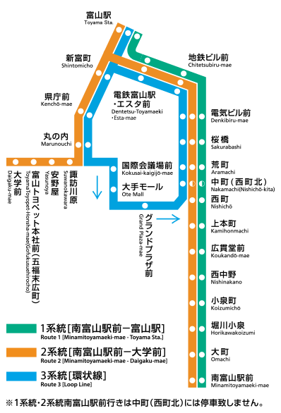 富山地鐵圖