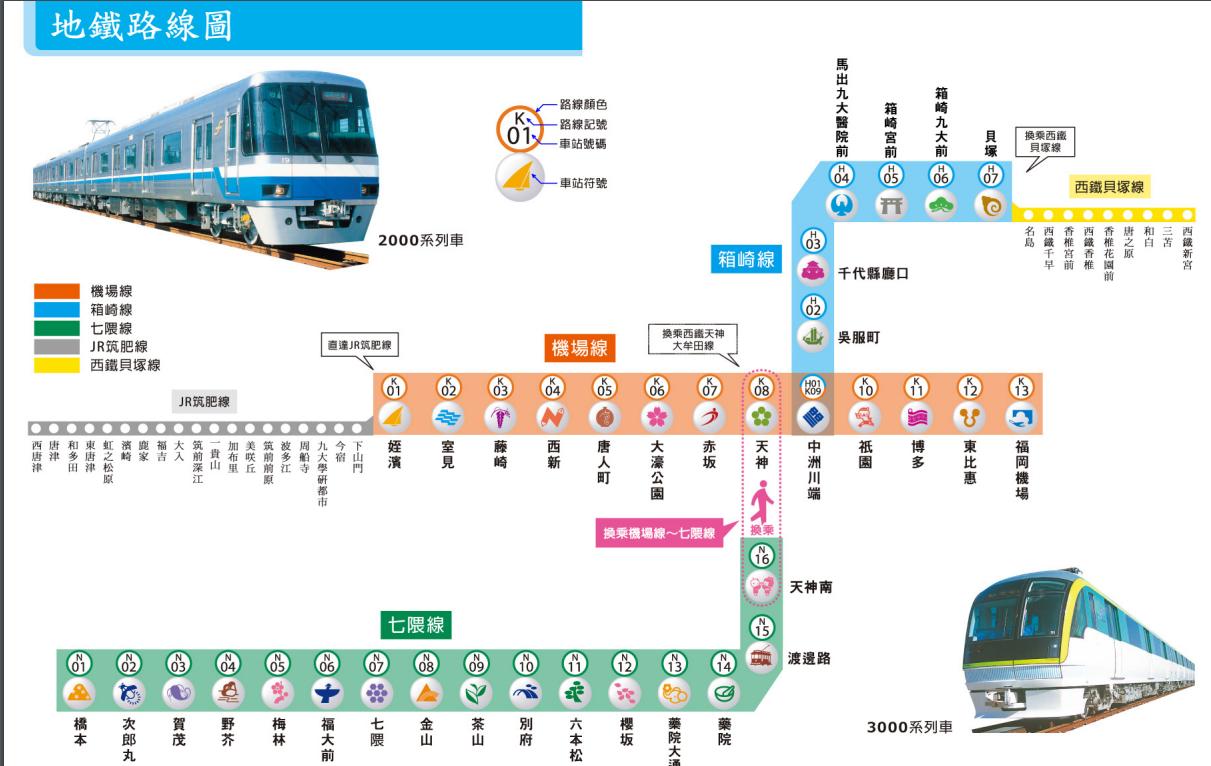 福岡地鐵圖