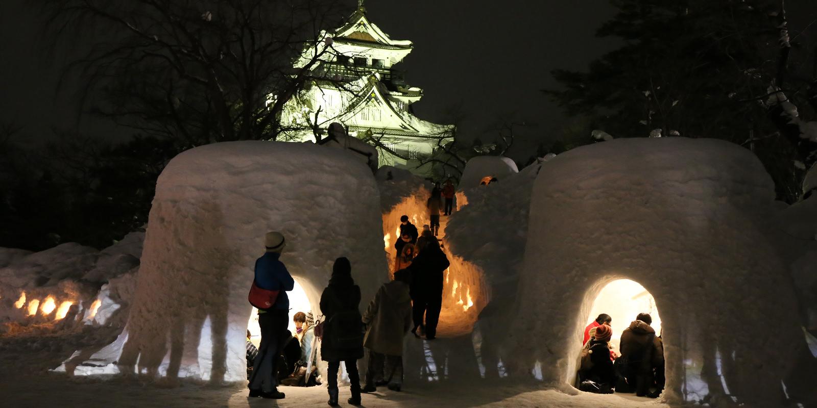 2018 春節賞雪:橫手雪屋祭